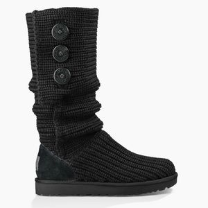 """Pre owned black ugg boots. """"Classic cardy boot"""""""